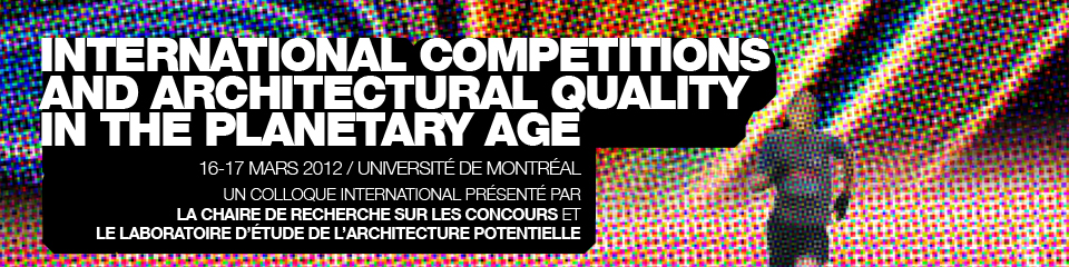 International Conference and Architectural Quality in the Planetary Age
